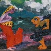 Emil Nolde  Begegnung am Strand, 1920  Ölfarben auf Leinwand  86,5 x 100 cm  © Nolde Stiftung Seebüll