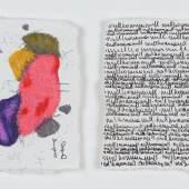 nullkommanull, 2020, Diptychon, Bleistift, Buntstift, Tintenroller auf Papier, 8 x 11 cm