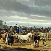 Wilhlem von Kobell (1766–1853) Pferdemarkt, 1802 Aquarell über Bleistift, helles Velin, 395 x 517 mm © Städel Museum, Frankfurt am Main 1817 Stiftung Johann Georg Grambs (1756–1817)