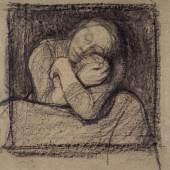 Käthe Kollwitz (1867–1945) Kauernde Mutter, die ihr Kind an sich drückt, um 1899 Schwarze Kreide und Kohle, 402 x 362 mm Städel Museum, Frankfurt am Main Foto: U. Edelmann - Städel Museum - ARTOTHEK © VG Bild-Kunst, Bonn 2012 1910 erworben von der Galerie Thannhauser, München