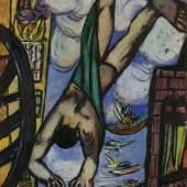 Max Beckmann (1884-1950) Abstürzender, 1950 Öl auf Leinwand, 141 x 88,8 cm Foto: Copyright 2011: Image courtesy of the National Gallery of Art, Washington © VG Bild-Kunst, Bonn 2011