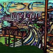 Max Beckmann (1884-1950) San Francisco, 1950 Öl auf Leinwand, 102 x 140 cm Hessisches Landesmuseum Darmstadt Foto: Wolfgang Fuhrmannek © VG Bild-Kunst, Bonn 2011