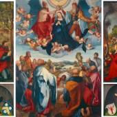 Albrecht Dürer (1471–1528) Der Heller-Altar im geöffneten Zustand, 1507-1509 Tannenholz historisches museum frankfurt Foto: Horst Ziegenfusz © historisches museum frankfurt