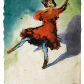Emil Nolde (1867–1956) Tänzerin in rotem Kleid, 1910 Aquarell auf Japan, 348 x 288 mm Kunsthalle Emden © Nolde Stiftung Seebüll