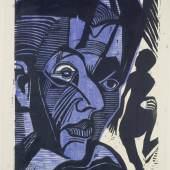 Ernst Ludwig Kirchner (1880–1938) Selbstbildnis (Melancholie der Berge), 1929 Holzschnitt, 546 x 400 mm Städel Museum, Graphische Sammlung, Frankfurt am Main Foto: Städel Museum - U. Edelmann - ARTOTHEK