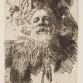 Anders Zorn (1860–1920) Auguste Rodin, 1906 Radierung, Kaltnadel, 374 x 277 mm Städel Museum, Graphische Sammlung, Frankfurt am Main Foto: Städel Museum – ARTOTHEK