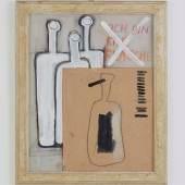 Oswald Oberhuber, Ich bin eine Flasche, 1954, Mischtechnik auf Papier, 49 x 41 cm