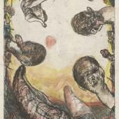 Georg Baselitz, Oberon, 1964 Radierung, Vernis mou, 32,8 x 26,5 cm, Staatliche Graphische Sammlung München  © Georg Baselitz 2018, Foto: Staatliche Graphische Sammlung München