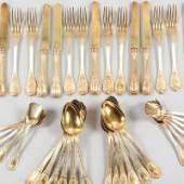 Los 283 Empire-Besteck 925er Silber/vergoldet, Frankreich, 19.Jh. Schätzpreis 1.400,- EUR