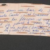 Peter Handke an René Char, Brief auf Birkenrinde, 1986 – © Österreichische Nationalbibliothek