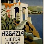 "Plakat ""Abbazia"", 1911 Stephanie Glax Farblithographie © Wien Museum"