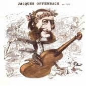 """Jacques Offenbach reitet zum Erfolg  Karikatur von André Gill in der Zeitschrift """"La Lune"""", 1866. © Österreichisches Theatermuseum"""