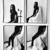 Eine Geste wird belichtet – photographische Weiterführung, 2013 Analoger SW-Barytprint, 100x70 cm © Anja Manfredi