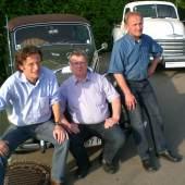 Das Team der Oldtimermesse Tulln v.l.n.r.: Mag. Manfred Hogl, Geschäftsführer; Ing. Engelbert Baum, Gesellschafter; Dascha Hagl, Geschäftsführer;