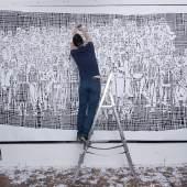 Olivier Hölzl aka LIVIL ist im Mai auch im Untergrundsystem der Wiener Linien mit einer Arbeit zugegen. Fotos ©:  Escape the Golden Cage, Mark Rigney, Brad Downey, Lazarides Gallery, Andreas Nader