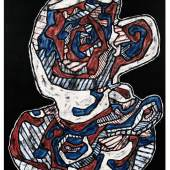 Jean Dubuffet (1901-1985)  Tasse de Thé III (Orange Pékoé), 1965 Signed and dated at the bottom right. Signed, titled and dated at the back   Opera Gallery