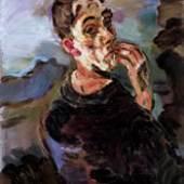 OSKAR KOKOSCHKA Selbstbildnis, eine Hand ans Gesicht gelegt, 1918/19 Self-Portrait, One Hand Touching the Face Öl auf Leinwand Oil on canvas 83,6 x 62,7 cm Inv.Nr. 623 VBK, Wien 2008