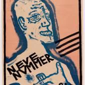 Oskar Kokoschka Selbstbildnis (Sturmplakat), 1910 Farblithografie 66,6 x 44,6 cm Museum der Moderne Salzburg © Fondation Oskar Kokoschka/Bildrecht, Wien 2015