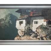 Berghof  Oskar Mulley  Öl auf Leinwand  Signiert,  ca. 120x80cm  Kunsthandel Strassner,  Stand Nr. 55