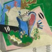 Oskar Moll  Stillleben mit NOVEM | Um 1929  Öl auf Leinwand | 65 x 58,5cm  Schätzpreis: € 20.000 – 30.000
