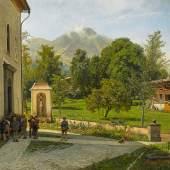 Oswald Achenbach Sonntag in Südtirol Öl auf Leinwand | 109,5 x 151cm Taxe: €28.000 – 30.000