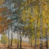 """Otto Altenkirch """"Birkenecke am Heller"""". 1917.   120 x 95 cm, Ra. 138 x 118 cm. 6000 €"""