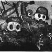 Otto Dix Sturmtruppe geht unter Gas vor Stiftung museum kunst palast Copyright: VG Bild-Kunst, Bonn 2008