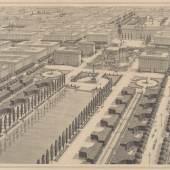 """Otto Wagner, Idealentwurf des XXII. Bezirks für die Studie """"Die Großstadt"""", 1911 © Wien Museum"""