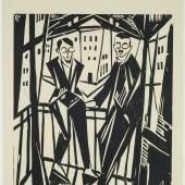 Otto Lange, Felixmüller und Ottolange, 1917, Holzschnitt, Österreichische Privatsammlung Foto: Städtische Galerie Dresden, Franz Zadnicek