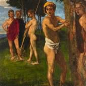 Hans von Marées, Fünf Männer in einer Landschaft   Ergebnis: €53.320