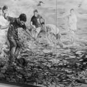 """Ausstellungsansicht """"Ingrid Pröller - menschlich – tierisch – malerisch"""" (c) findART.cc Foto frei von Rechten."""