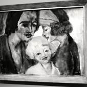 """Ausstellungsansicht """"Deutscher Expressionismus"""" Emil Nolde Familienbild, 1947 2019 (c) findART.cc Foto frei von Rechten."""