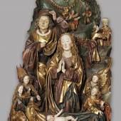 Wiener Nachfolge Niclaus Gerhaerts von Leyden Geburt Christi, um 1480/85 Laubholz, originale Fassung, Höhe 206 cm Slowakische Nationalgalerie, Bratislava © Slowakische Nationalgalerie, Bratislava