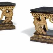 Paar prächtige Konsoltische mit Adlerzier In der Art des William Kent Schätzpreis: 80.000 – 120.000 Euro