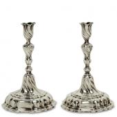 Ein Paar Kerzenleuchter Nürnberg, um 1760/64 - 1767, Johann Samuel Beckensteiner, Schätzpreis EUR 2.500,-