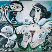 Pablo Picasso Nackte Frau mit Vogel und Flötenspieler, 1967 Albertina, Wien - Sammlung Batliner © Succession Picasso / VBK, Wien 2009. Foto: © Fotostudio Heinz Preute, Vaduz