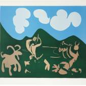 Pablo Picasso, Faune und Ziege, 1959, Farblinolschnitt, 622 x 752 mm, KPPM