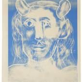 Pablo Picasso, Faunskopf, 07.02.1962, Farblinolschnitt, KPPM