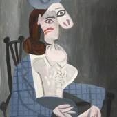 Pablo Picasso, Femme dans un Fauteuil (Dora Maar) (Woman in an Armchair (Dora Maar))© 2018 Estate of Pablo Picasso  Artists Rights Society (ARS), New York