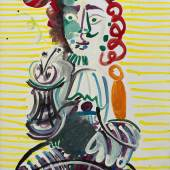 Pablo Picasso, L'homme à la pipe (Man with a Pipe), 1968© 2018 Estate of Pablo Picasso  Artists Rights Society (ARS), New York