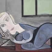 Pablo Picasso (1881-1973): Liegende mit Buch, 1939, Musée national Picasso, Paris, © Succession Picasso / VG Bild-Kunst, Bonn 2015
