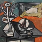Pablo Picasso, Nature morte aux fleurs et au compotier