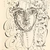 Pablo Picasso, Portrait de Françoise, 1948, pen and ink on paper (est. £120,000-180,000)