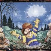 Tafel zu «Palmerino», erste Hälfte 20. Jh. Leimfarbe auf Papier, 149 x 292 cm Sammlung Würth, Künzelsau