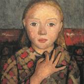 Paula Modersohn-Becker: Mädchenbildnis mit gespreizter Hand vor der Brust, um 1905, Von der Heydt-Museum, Wuppertal