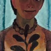 Paula Modersohn-Becker, Selbstbildnis mit Kamelienzweig, 1906/07, Pappe auf Holz, Museum Folkwang, Essen