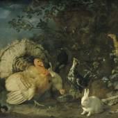 Franz Werner Tamm  Hausgeflügel und Kaninchen, um 1706  Öl auf Leinwand  137 x 186 cm  © Belvedere, Wien