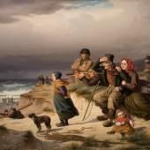 Peter Raadsig, Sturm an der Westküste Jütlands, 1853 © Staatliche Schlösser, Gärten und Kunstsammlungen Mecklenburg-Vorpommern, Foto: K. Beutel