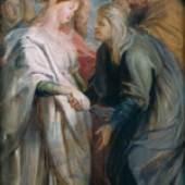 Peter Paul Rubens (1577–1640) Die Heimsuchung, 1611/1612  Öl auf Holz Höhe 50 cm, Breite 26 cm Inv.-Nr. 198 Musée des Beaux Arts, Strassburg