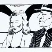 Raymond Pettibon, No Title (My first ride), 1983. Schreibstift und Tusche auf Papier, 22,9 x 30,5 cm. © Raymond Pettibon